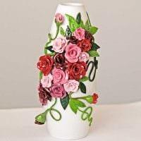 идея необычного декорирования вазы картинка