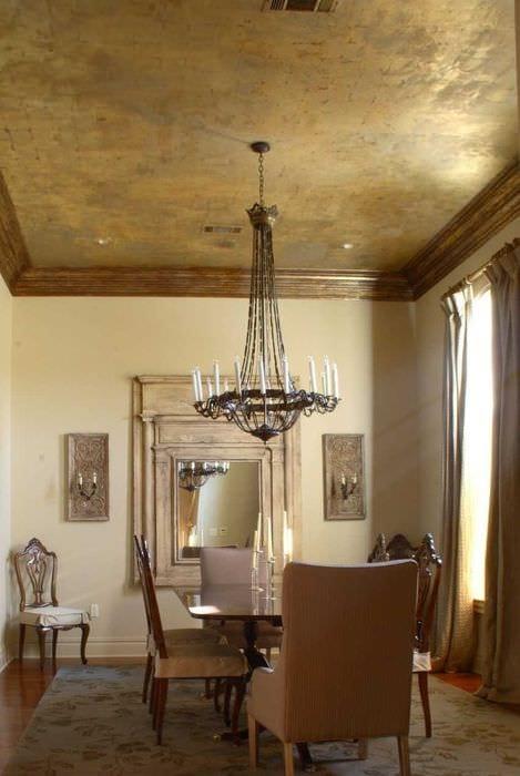 вариант необычной декоративной штукатурки в интерьере квартиры