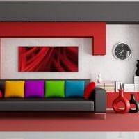 вариант современного интерьера комнаты с диваном фото