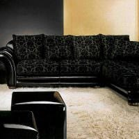 идея красивого декора спальни с диваном картинка