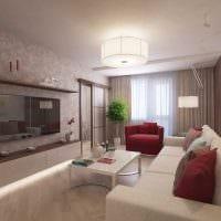 вариант современного декора кухни 3-х комнатной квартиры фото