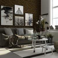 вариант красивого декоративного камня в дизайне квартиры фото