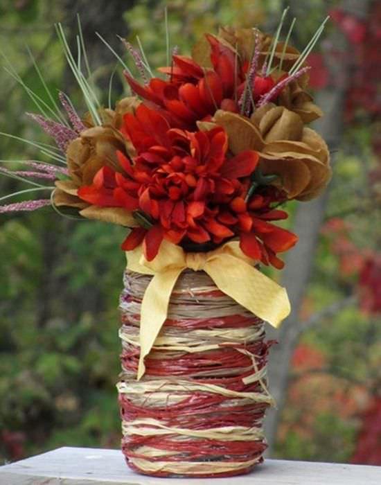 идея красивого украшения вазы