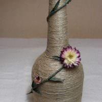 идея красивого декорирования бутылок солью фото