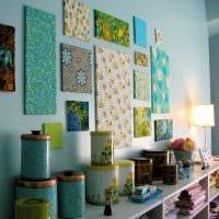 идея необычного декорирования стен в помещениях фото