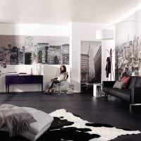 идея яркого оформления интерьера гостиной картинка