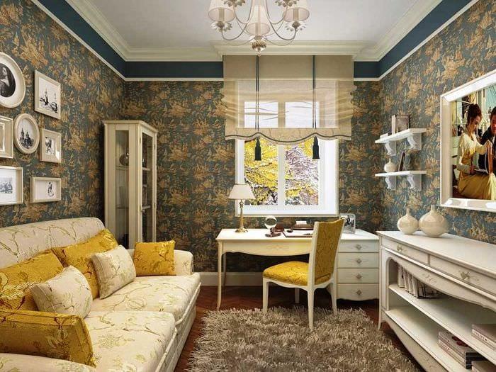 вариант красивого декорирования интерьера гостиной