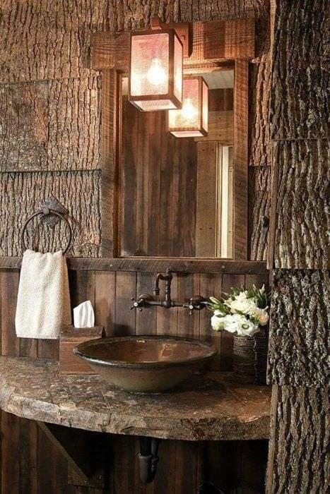 идея оригинального дерева в интерьере квартиры