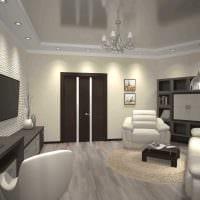 вариант необычного интерьера 2 комнатной квартиры фото пример