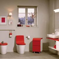 вариант яркого стиля белой ванной фото