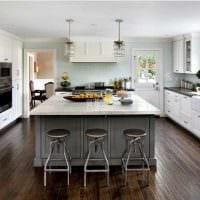 идея красивого стиля большой кухни фото