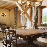 идея необычного стиля дома в деревне фото