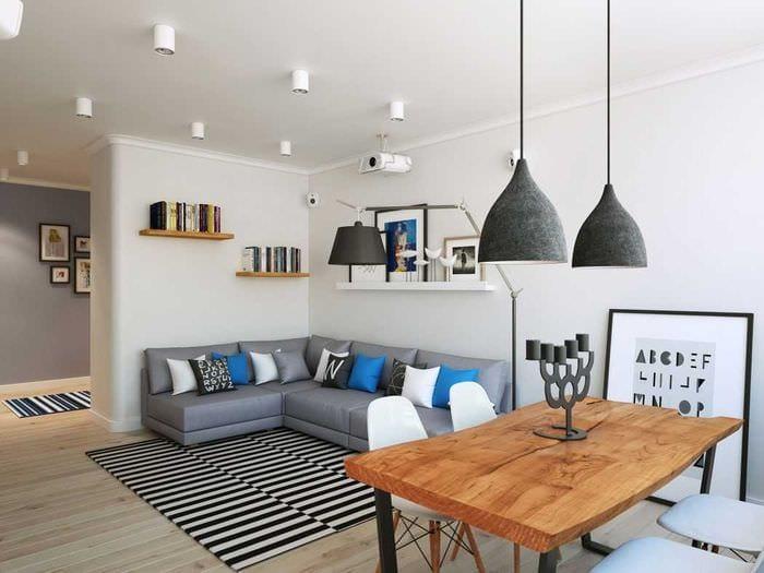 идея необычного интерьера спальни 3-х комнатной квартиры