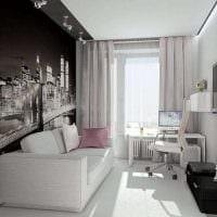 идея современного оформления гостиной комнаты 17 кв.метров фото