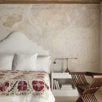 идея оригинального дизайна комнаты с декоративной штукатуркой картинка