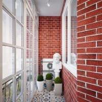 вариант оригинального декора маленького балкона фото