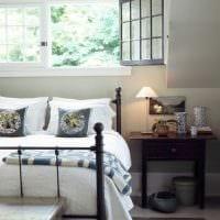 вариант необычного декора спальни в деревенском стиле фото
