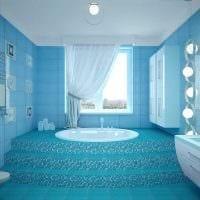 вариант оригинального дизайна ванной комнаты фото