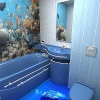 вариант яркого дизайна ванной в квартире фото