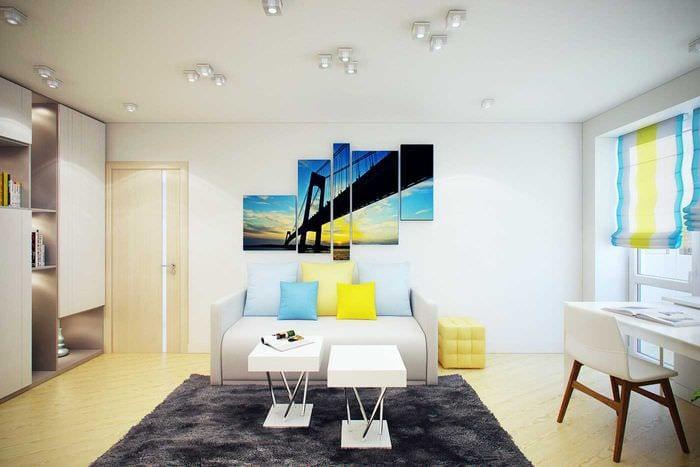 вариант красивого стиля 2 комнатной квартиры