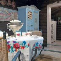 идея красивого дизайна дачи в деревне фото