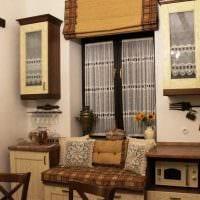 вариант яркого дизайна дома в деревне картинка