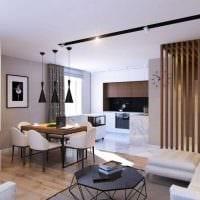 вариант красивого интерьера гостиной 3-х комнатной квартиры картинка