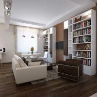 идея красивого дизайна 2 комнатной квартиры картинка пример