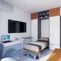 вариант оригинального интерьера квартиры фото пример