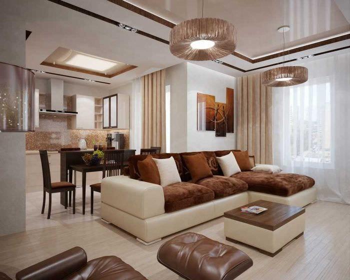 идея яркого интерьера квартиры