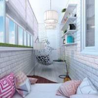 вариант необычного дизайна маленького балкона фото