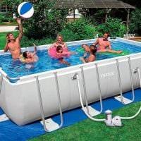 идея современного дизайна небольшого бассейна фото