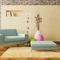 идея красивого декора вазы с декоративными цветами картинка