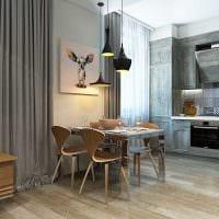 идея необычного декора гостиной 3-х комнатной квартиры картинка