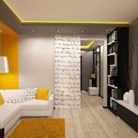вариант необычного дизайна гостиной комнаты 17 кв.метров картинка