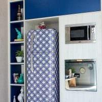 идея оригинального оформления холодильника фото