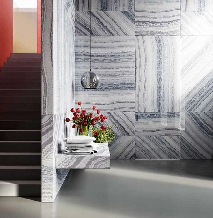 вариант красивого украшения стен в помещениях