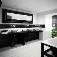 вариант оригинального интерьера белой ванной комнаты фото