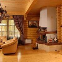 вариант красивого стиля дома в деревне фото