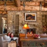 идея яркого стиля дома в деревне фото