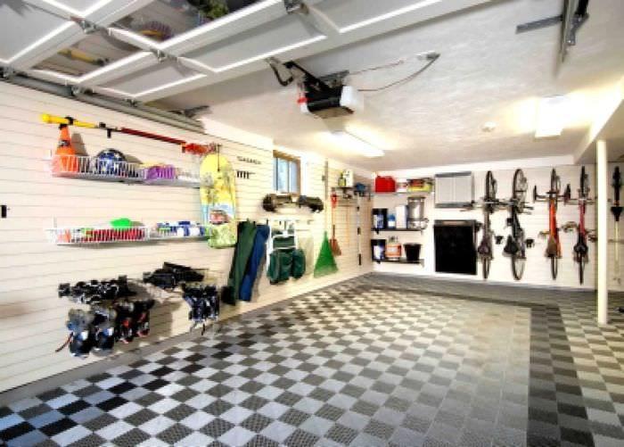вариант красивого дизайна гаража