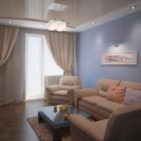 идея красивого стиля гостиной комнаты 17 кв.метров фото