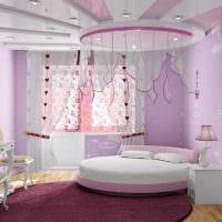 идея красивого интерьера комнаты для девочки фото