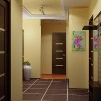 вариант оригинального интерьера коридора фото