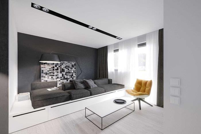 идея яркого дизайна квартиры