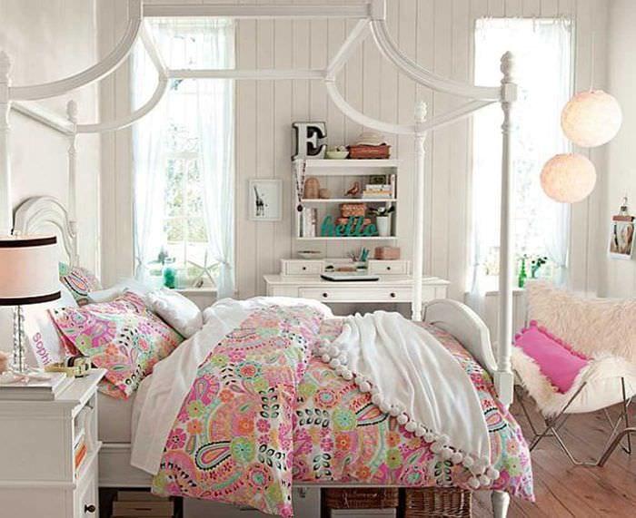 Красивая комната для девочки подростка своими руками 39