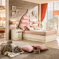 вариант оригинального дизайна комнаты для девочки картинка