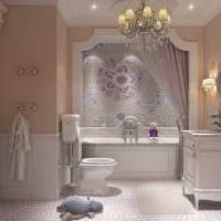 вариант яркого стиля ванной комнаты картинка