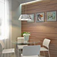 идея яркого украшения стен в гостиной фото