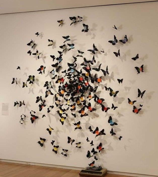 Декор стен бабочками своими руками: трафареты, материалы 98